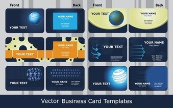 Sense Of Business Card Templates Technology Blue 01