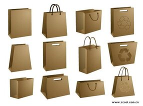 Vector material blank kraft paper bag