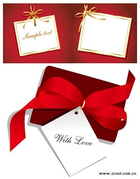 White cardboard ribbon bow