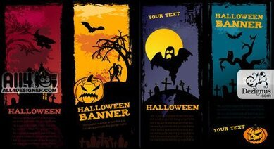Scary Halloween Banners