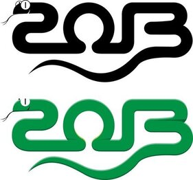 2013 anno del serpente Design 03