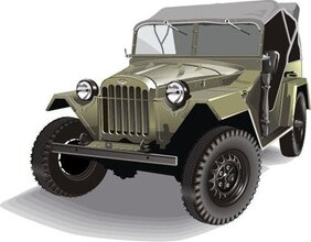 Free Vector Retro Army Jeep GAZ-67b