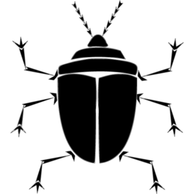 Bug Silhouette Vector Free