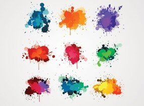 Colorful Ink Splash