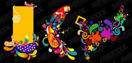 3, the trend of color vector graphic material
