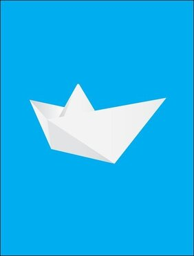 Free Vector Origami Boat