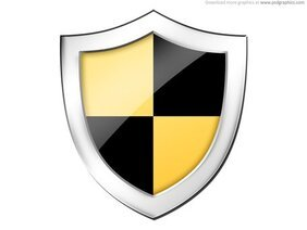 Shield, securtiy icon (PSD)