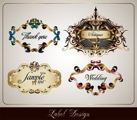 Ribbon Vector 3 Theme Label