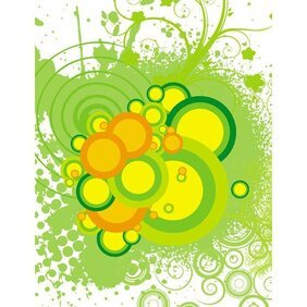 GREEN GRUNGE STOCK VECTOR IMAGE.ai