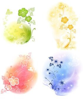 4 soft background pattern