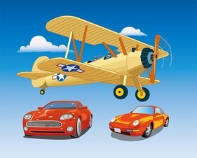 Aircraft and cars