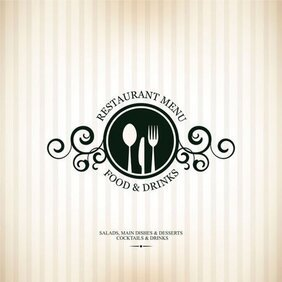Continental menu template 04
