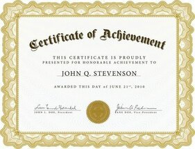 Beautiful Certificate Template 4