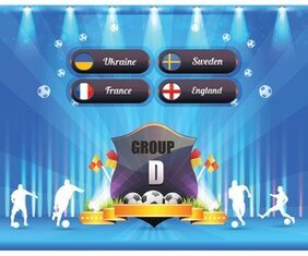 Euro 2012 Groupe D bouclier affiche Vector Art Award Badge