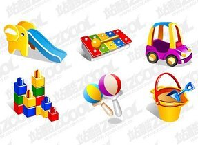 Vector material supplies infant toys