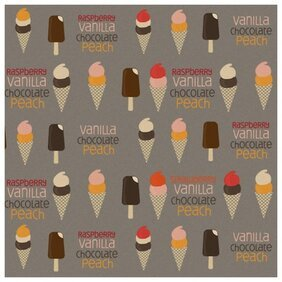 Ice Cream - Free Photoshop and Illustrator Patterns