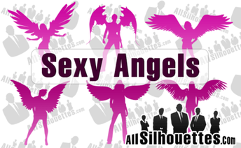 6 Angel Silhouettes