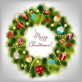 Christmas card background vector-8