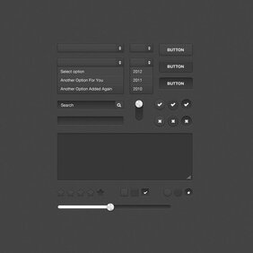 Dark Form UI Kit