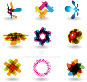 Colorful Abstract Logotype Design Shapes