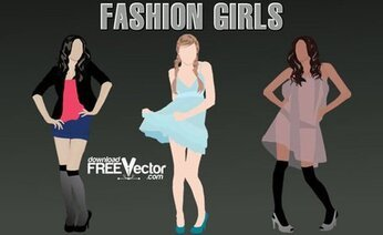 Vector Fashion Girls
