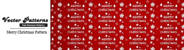Merry Christmas Seamless Vector Pattern
