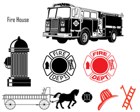 Free Fire Department Vector Art