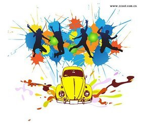 The trend of ink character classic cars