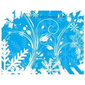 WINTER FLORAL SWIRLS STOCK VECTOR.ai