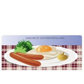 BREAKFAST VECTOR ILLUSTRATION.eps