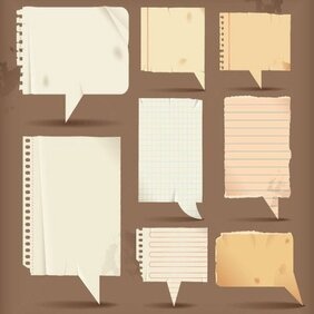 Speech Bubbles of Lined Paper