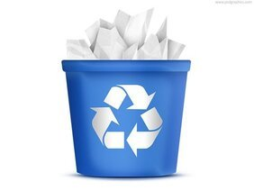 Recycling bin icon (PSD)