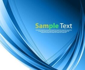 Abstract Design Blue Vector Illustration Art