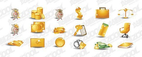 Money Gold Theme Icons