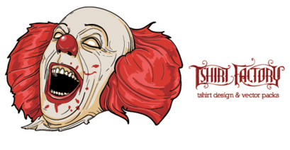 Evil Clown Free Vector Art