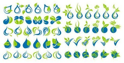 Green Leaf icon vector graphic material