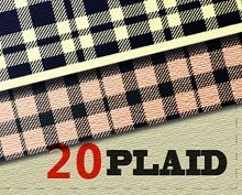 20 Seamless Plaid Patterns for Illustrator