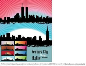 Vectores de New York City Skyline U.S.