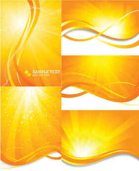 yellow orange summer sun light burst