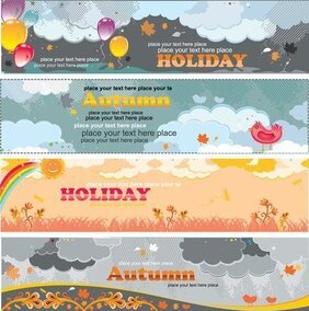 Beautiful Autumn Banners