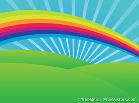 Rainbow Scenic Background
