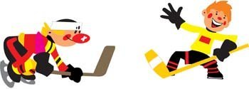 Vector deporte hockey 2
