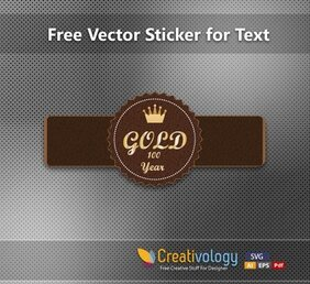 Leathery Abstract Label Template