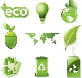 Vector conjunto de Global Eco