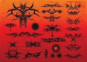 Gratis Tribal Tattoo vectoren