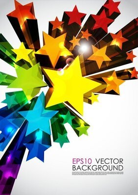 Abstract 3D Stars