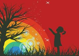 Rainbow Background Graphics