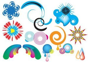 Colorful Swirls and Shapes Free