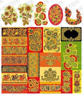 Classic pattern series of vector material -5 - lace patterns