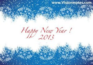 Happy New Year Blue Card
